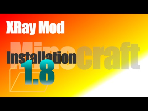 XRay Mod 1.8 - How To Install in Minecraft 1.8