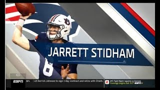 Jarrett Stidham reacts to being drafted by the New England Patriots 4th Round Pick 31