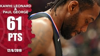 Kawhi Leonard and Paul George combine for 61 points vs. the Wizards | 2019-20 NBA Highlights