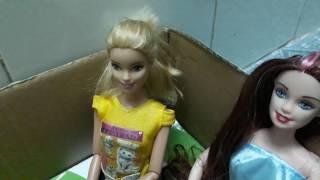 Phim búp bê bộ bài học của nini : tập 1 nini bị chị barbie mắn