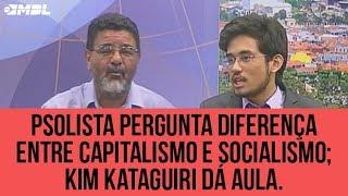 Psolista pergunta diferença entre capitalismo e socialismo; Kim Kataguiri dá aula.