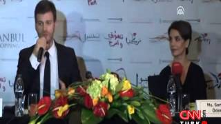 Kıvanç Tatlıtuğ & Songul Oden in Dubai Promoting for ISF  CNN TURK Report   May 10th 2012