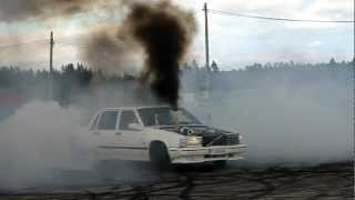 Volvo 740 Turbo Diesel OM606 Burnout