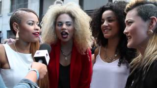 Neon Jungle fan girl out on the red carpet of We