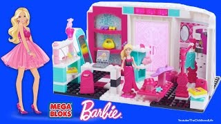 Mega Bloks Barbie Fashion Boutique with Barbie Dolls Life in a Dream House Dollhouse shop