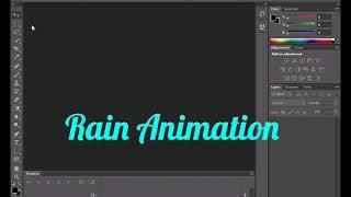 Rain Animation ( Adobe Photoshop ) - बारिश का एनीमेशन बनाइये - بارش کا انیماشن بنائیے