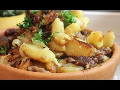 Жареный Картофель с мясом. Оджахури по-Грузински с говядиной