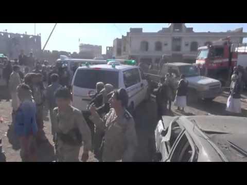 Yemen: Devastation after air strike near Sana'a airport
