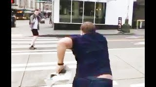 Alex Jones Runs Around Yelling At People (VIDEO)