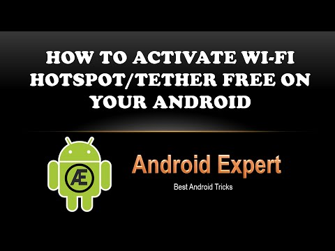 How To Activate Wi-Fi Hotspot on Android   Turn on Wi-Fi Hotspot   Android Expert