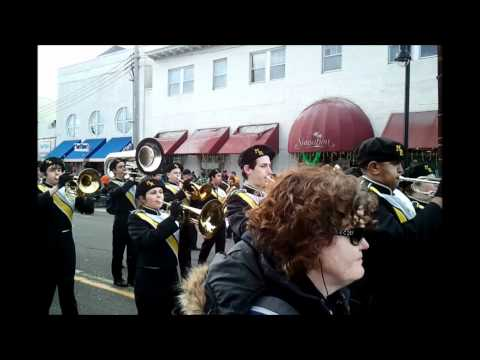 Monmouth Regional High School Band @ St Patricks Day Parade, Belmar NJ March 4, 2012