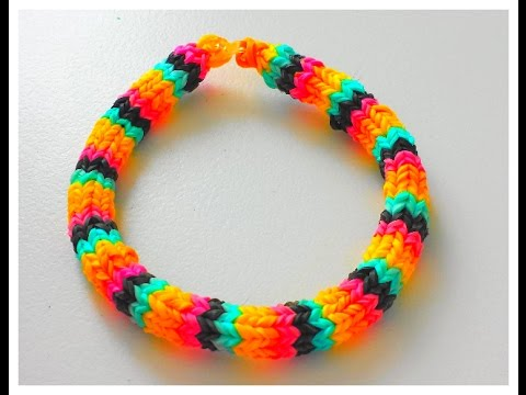Tutoriel comment r aliser un bracelet lastique hexafish rainbow loom en fran ais youtube - Comment faire des bracelets en elastique ...