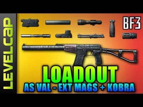 Loadout - AS VAL Ext Mags + Kobra (Battlefield 3 Gameplay/Commentary/Review)