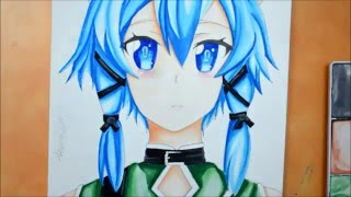 Watercolor Speedpaint - Sinon ( Asada Shino)