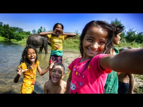 Selfie For The First Time! Nepal! In 4k video