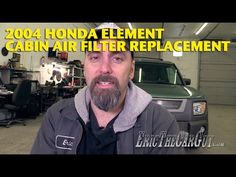 2003-2009 Honda Element Cabin Air Filter Replacement -EricTheCarGuy