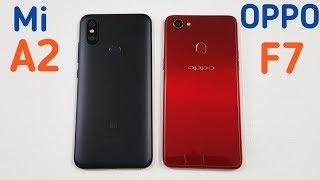 Xiaomi Mi A2 vs Oppo F7 Speed Test | Fingerprint | Display & Camera Test