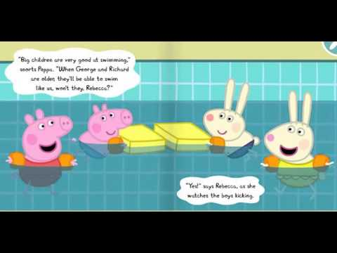 Peppa pig story the swimming youtube for Peppa pig swimming pool english full episode