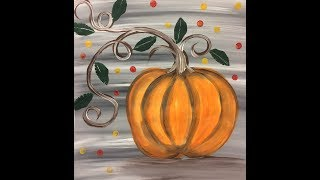 Easy Glow Face Pumpkin (Adapted Painting)