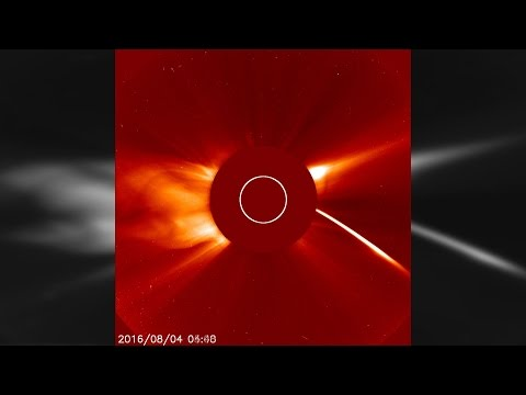 NASA's SOHO Captures A Comet Being Vaporised