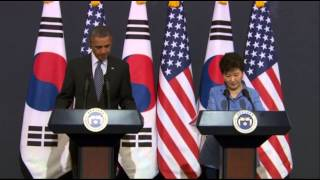 Obama: May Be Time for More (North Korea) Sanctions  4/25/14