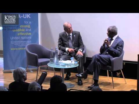 Kofi Annan -- Dept of War Studies & CSDRG event