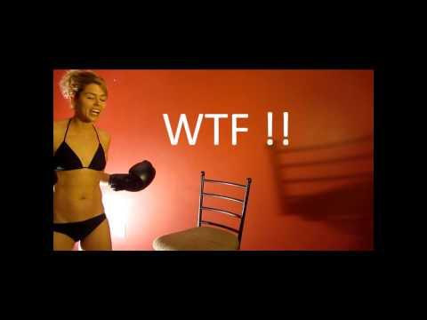Heygidday.Biz - The Best Biker Patches Wallets Bandanas & More! Blonde Kickboxer in Bikini