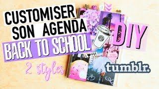 DIY Customiser son AGENDA : Back To School Facile (français)
