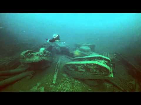 Nurkowie odnaleźli zatopione wraki czołgów sherman z okresu II Wojny Światowej u wybrzeży Irlandii