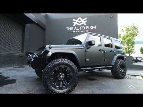 2014 AVORZA JEEP WRANGLER SATIN BLACK EDITION - BY ALEX VEGA THE AUTO FIRM