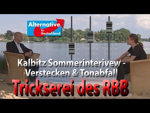 Wie der RBB das Sommerinterview mit Andreas Kalbitz (AfD) von den Leuten fernhält und herumtrickst