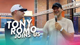 Tony Romo Joins Us at Nerf Challenge!