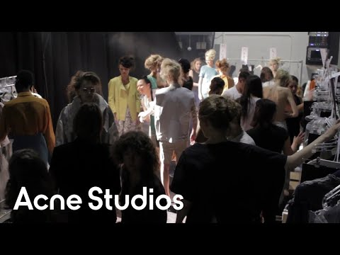 Acne Studios Women's Resort 2012 Presentation Backstage