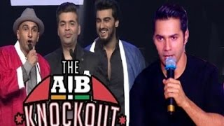 Varun Dhawan Reacts On AIB Knockout Roast Controversy