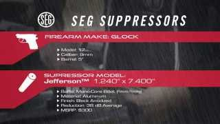 SEG Suppressors Jefferson Silencer on Glock 17 Suppressed 9mm 5 of 15