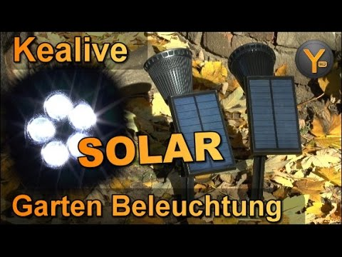 Kealive Outdoor Solar LED Spot für Garten/Balkon