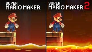 Super Mario Maker 2 vs Super Mario Maker | Direct Comparison