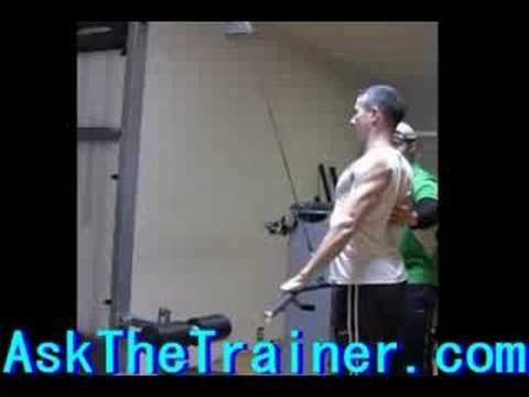 Cable Straight Arm Pull Downs - Lats Triceps Exercises tris Image 1