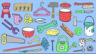 Deutsch lernen: 75 Haushaltsgegenstände – 75 household items - German for children + beginners