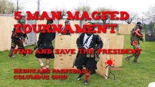 CQB Magfed Paintball 5 Man Tournament Redheads Ohio Save the President