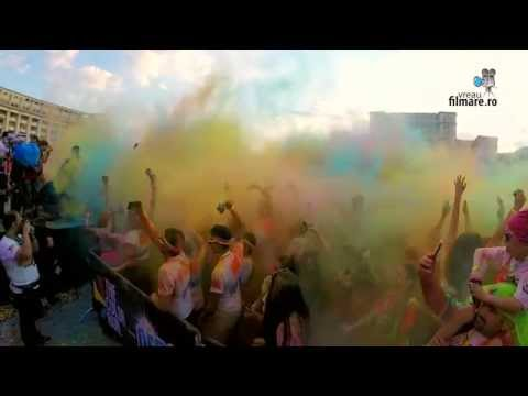 Bucharest explodes in color - The Color Run 2015
