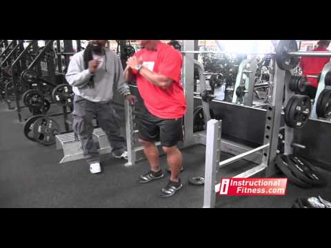 Instructional Fitness - Rear Squats