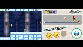New Super Mario Bros. World 5 Level 5-Castle 3-Stars