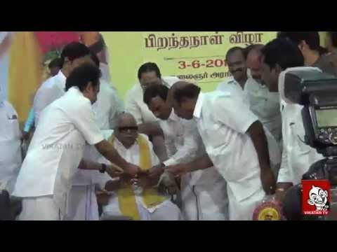 Kalaignar M Karunanidhi's 92nd Birthday celebrations