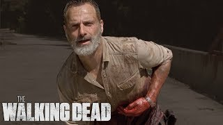 Rick Sacrifices Himself To Destroy the Bridge | The Walking Dead Classic Scenes