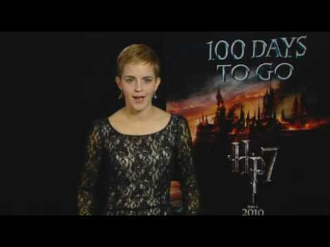 Emma Watson announces Harry Potter countdown (100 tickets to the London Premiere to win) Video