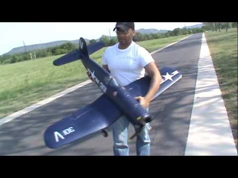 Nitroplanes Airfield F4U Corsair 1430mm FMS RC Airplane