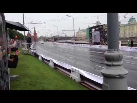Kamui kobayashi (Ferrari) Crash at Moscow City Racing 2013 July,21