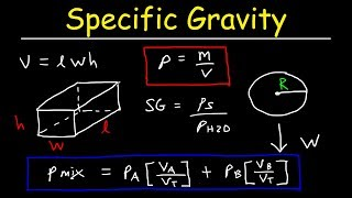 Specific Gravity and Density of Mixtures - Fluids Physics Problems