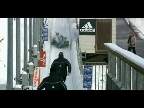 Brazilian bobsled crashed